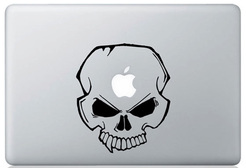 Skull macbook sticker and decals