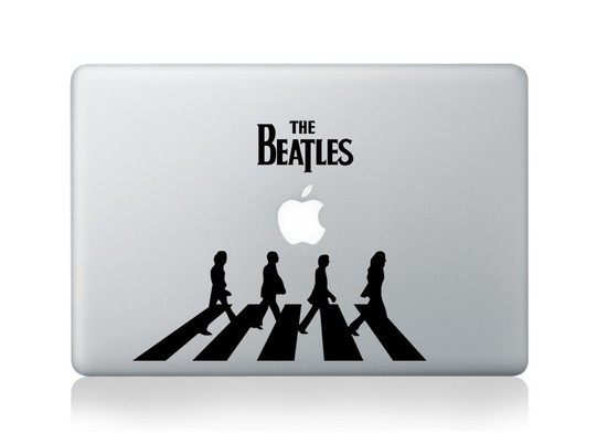 The Beatles Macbook Decal and sticker