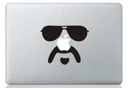 Mustache man macbook sticker and decal