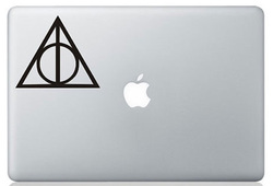 Deathly hallows macbook sticker and decal