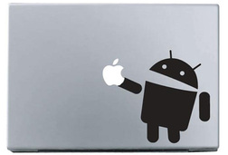 Android macbook sticker and decal