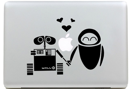 walle and eva macbook sticker and decal