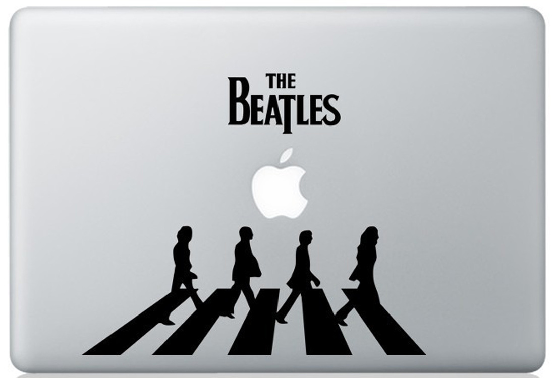 The beatles macbook decal and stickers