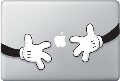 Mickey Hug Macbook Decal and sticker