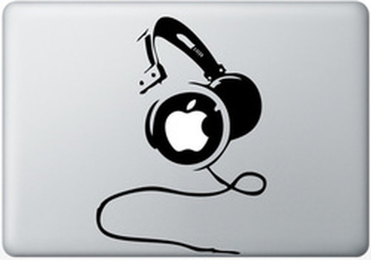Headphones macbook sticker and decal